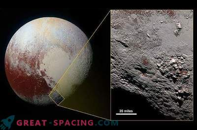 O enorme vulcão de gelo de Plutão