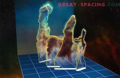 Incrível Perspectiva em 3-D dos Pilares da Criação