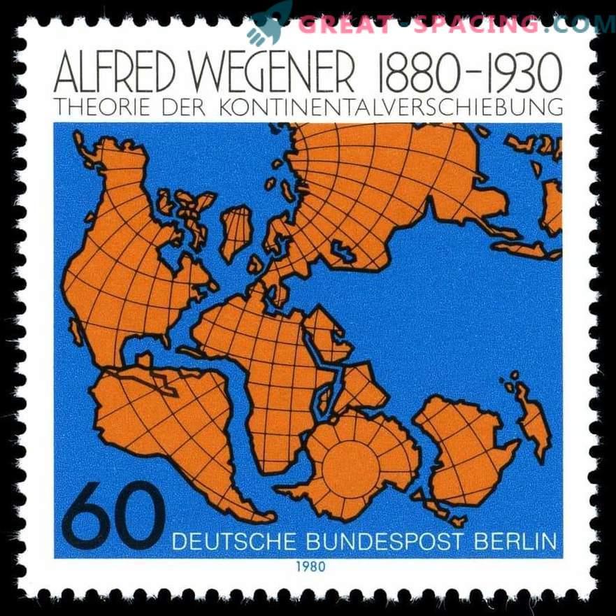 Como Alfred Wegener defendeu a teoria da deriva continental