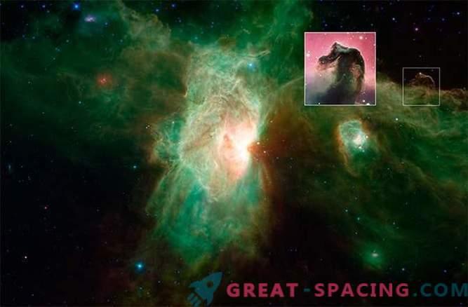 Nova imagem da Nebulosa da Chama, feita pelo telescópio Spitzer