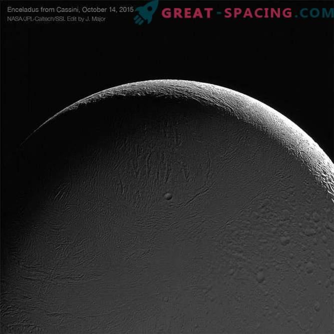 Sondas Cassini Enceladus, fotografias impressionantes