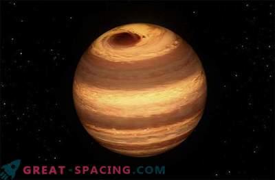 Júpiter enorme - como a tempestade se enfurece no frio