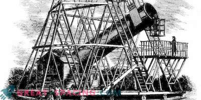 O telescópio gigante de William Herschel parecia