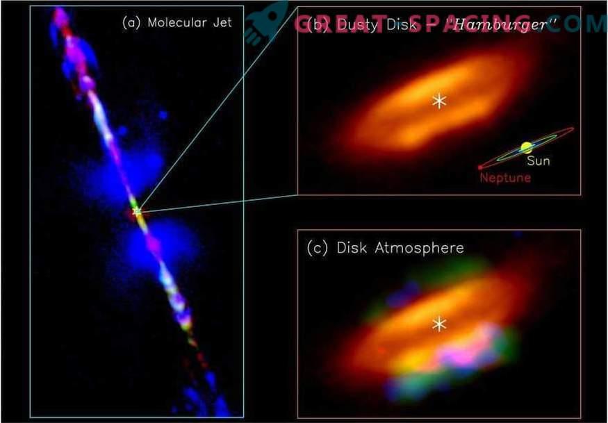 Uma atmosfera prebiótica foi encontrada no disco de acreção da estrela infantil