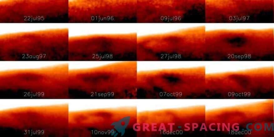 Um enorme ponto frio foi encontrado em Júpiter